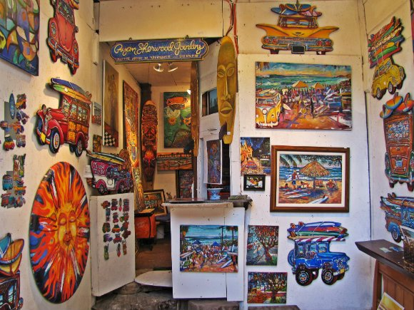 Colorful paintings, Sawdust Art Festival, Laguna Beach, California