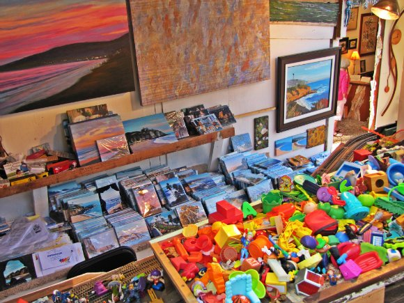 Booth of a playful artist, Sawdust Art Festival, Laguna Beach, California