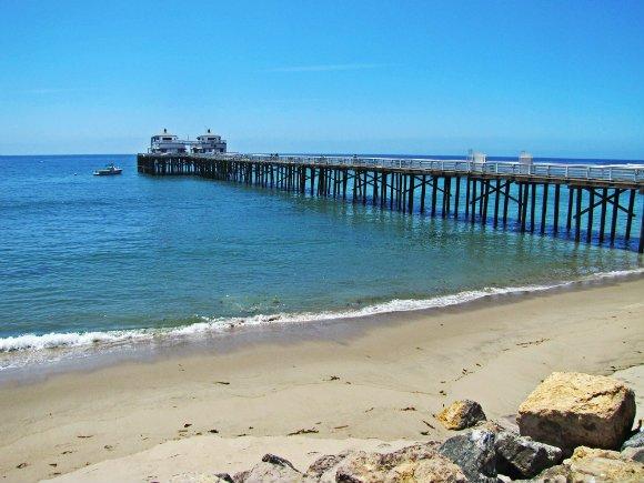 pier and beach, Malibu pier