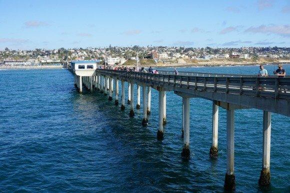 Ocean Beach fishing pier in San Diego, California