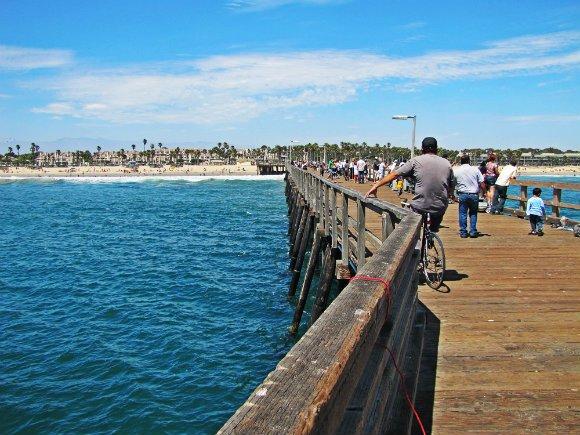 fishing in port hueneme pier, port hueneme pier, view from pier
