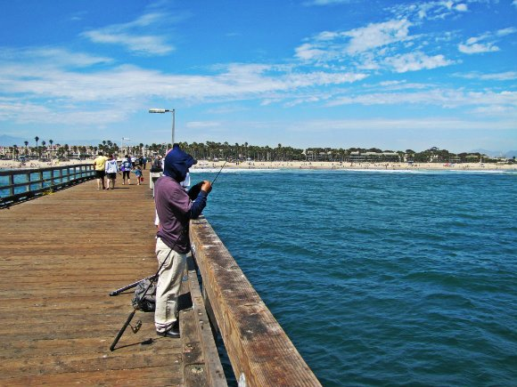 fishing in port hueneme pier, port hueneme pier, view from pier