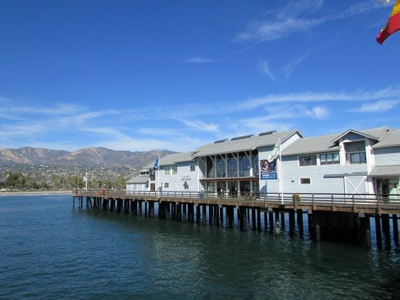 Sterns Wharf in Santa Barbara, Piers in California