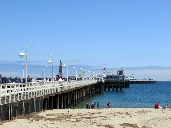 Santa Cruz Wharf, longest wooden structure over the Pacific Ocean, Piers in California