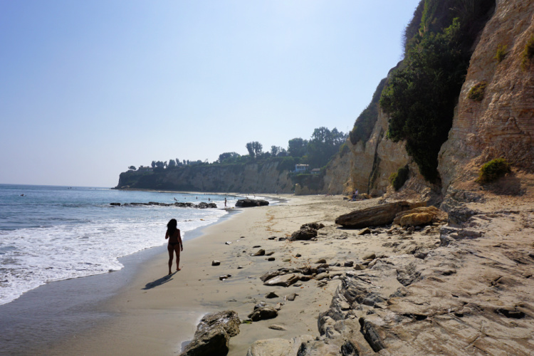 Point Dume Beach in Malibu
