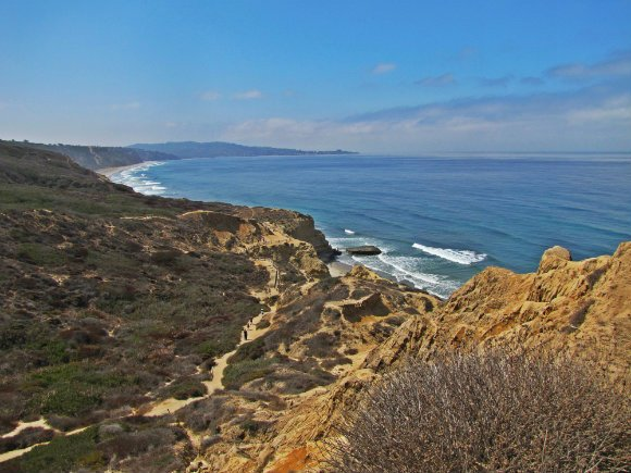 View from Yucca Point, Torrey Pines State Reserve, San Diego, California