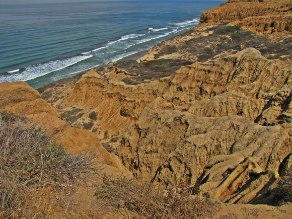 Formations next to  Yucca Point, Torrey Pines State Reserve, San Diego, California