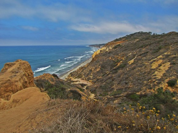 View from Razor Point, Torrey Pines State Reserve, San Diego, California