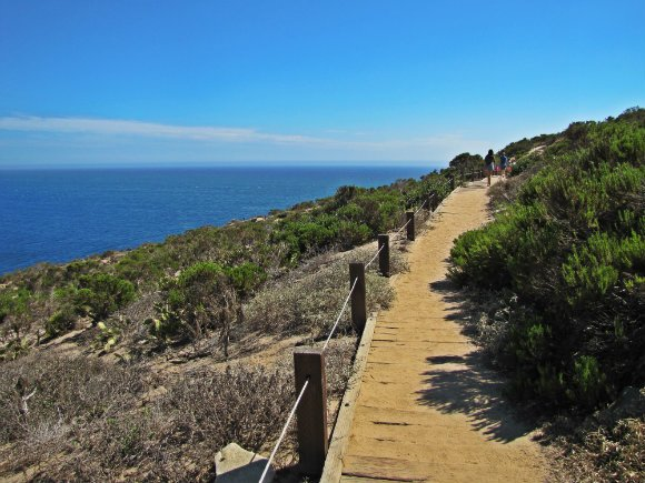 Trail leading to Dume Cove, Malibu, California