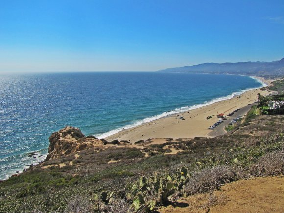 View from the highest point in Point Dume Reserve, Malibu, California