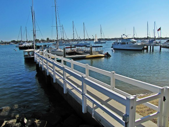 Private Pier in Balboa Island, Newport Beach, California