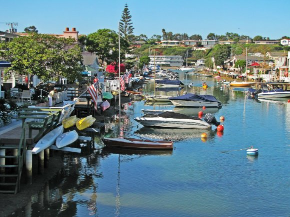 Grand Canal, Balboa Island, Newport Beach, California