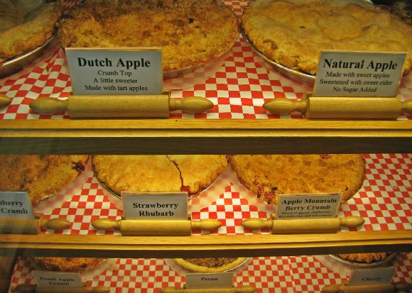 Pies at the Julian Pie Company, Julian, California
