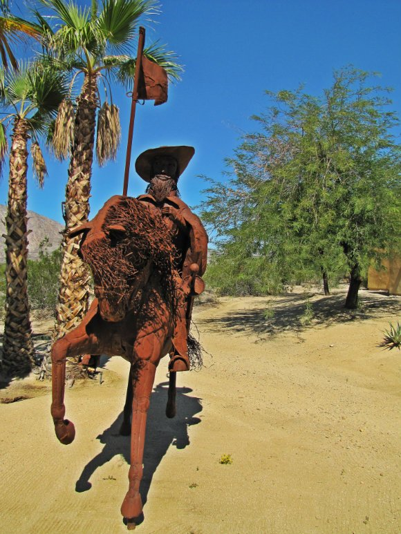Capt. Juan Bautista de Anza sculpture, Borrego Springs, California
