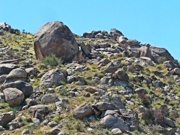 Desert Scenery, Hwy 78 near Borrego Springs, California