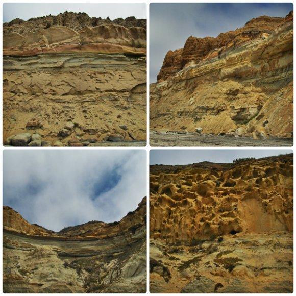 Cliffs at Torrey Pines State Beach, San Diego, California