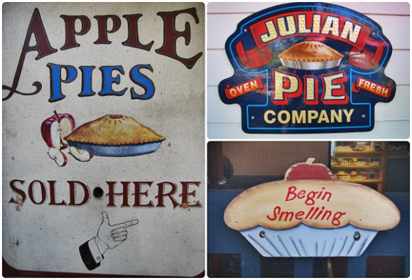 Apple pie signs, Julian, California