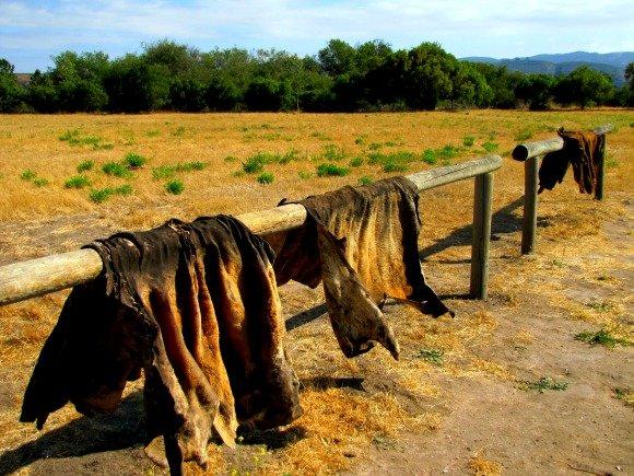 Hide Racks, La Purisima Mission, Lompoc, California