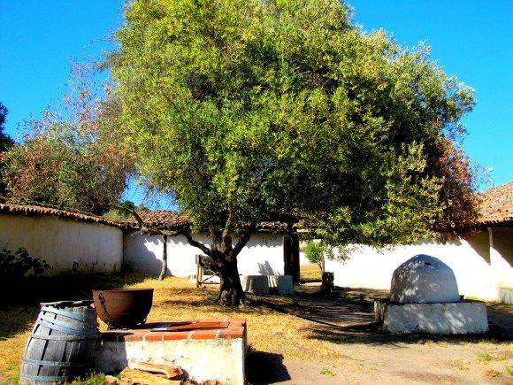 Courtyard, La Purisima Mission, Lompoc, California