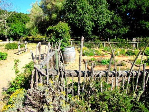 Garden area, La Purisima Mission, Lompoc, California