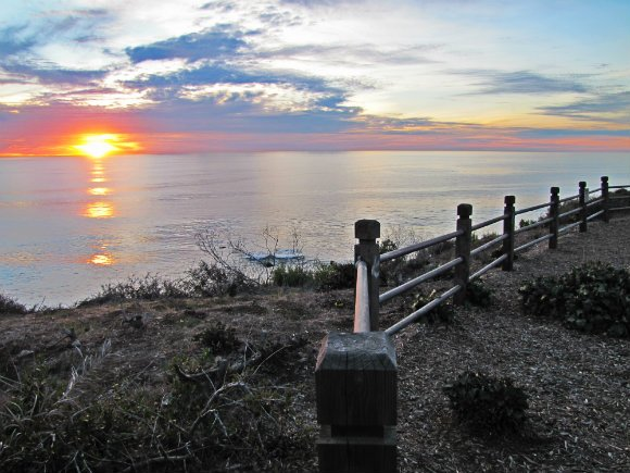 Sunset, Point Vicente, Palos Verdes Peninsula, Los Angeles, California