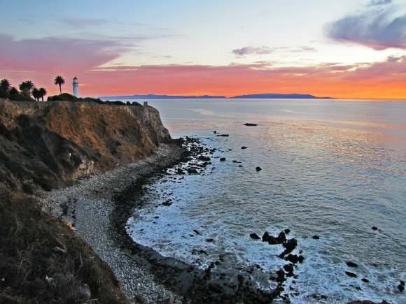 Point Vicente Lighthouse at sunset, Palos Verdes Peninsula, Los Angeles, California