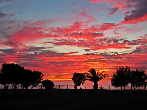 Red Sunset, Palos Verdes Peninsula, Los Angeles, California