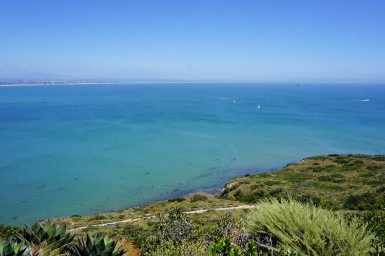 Ocean view from the tip of the Point Loma Peninsula, San Diego, California