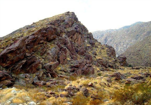 Pile of rocks, Tahquitz Canyon, Palm Springs, California