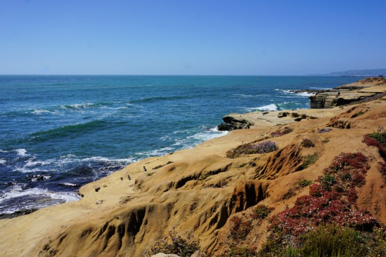 View of the Point Loma Peninsula Cliffs, San Diego, California
