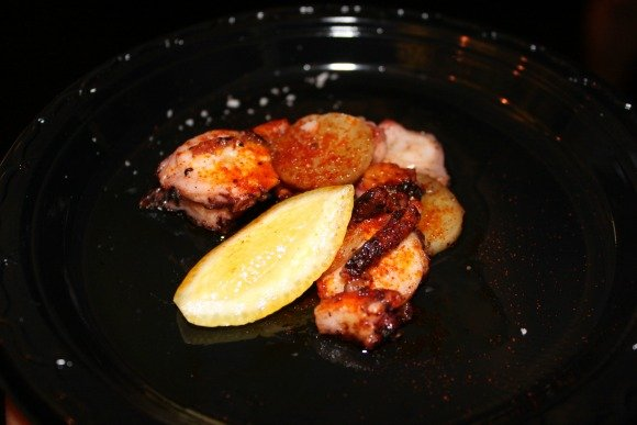 Octopus with Potatoes and Lemon from Tinto, Palm Desert, California