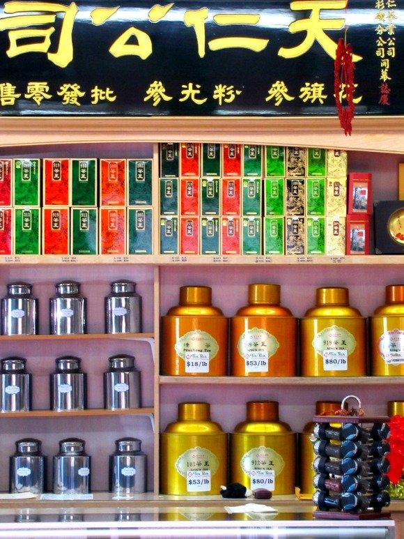 Tea Shop, Chinatown, Los Angeles, California