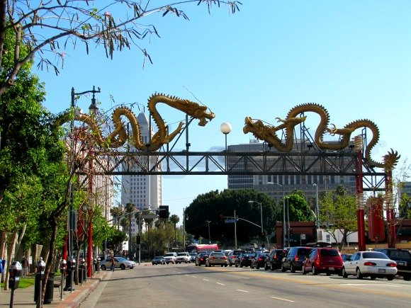 Chinatown Gate Chinatown, Los Angeles, California