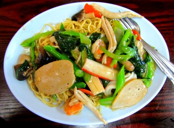 Seafood Chow Mein from Kim Chuy, Chinatown, Los Angeles, California