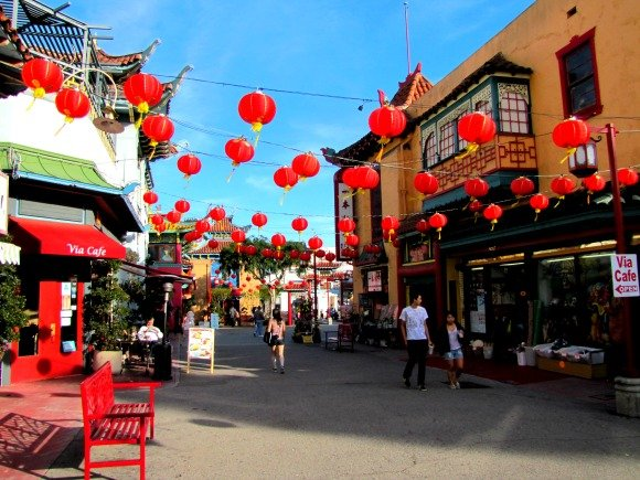 Main or Central Plaza, Chinatown, Los Angeles, California