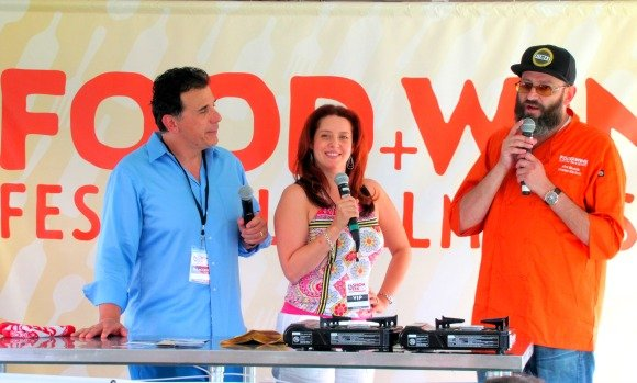 Cooking demonstration with chef Alez Reznik,  Food Festival, Palm Desert, California