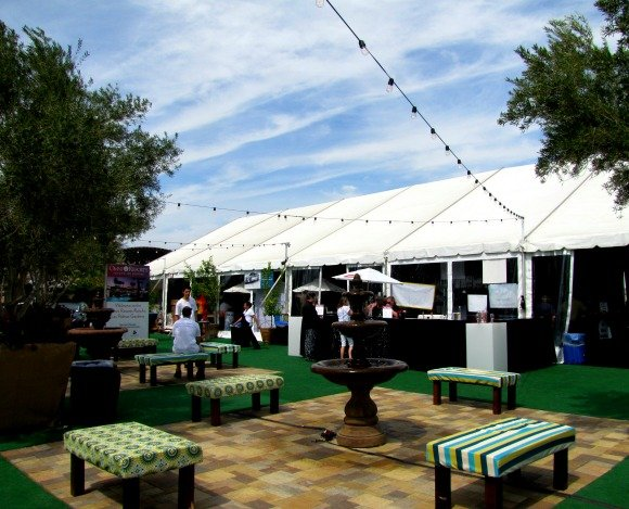 Outside Patio, Food Festival, Palm Desert, California