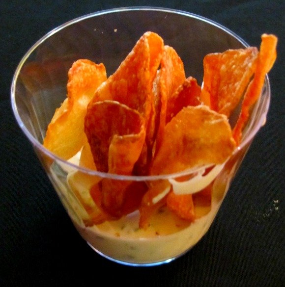 Fresh Potato Chips with House Ranch from TRIO, Food Festival, Palm Desert, California