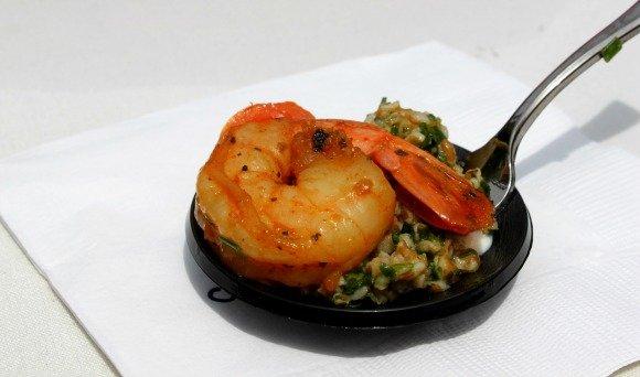 Cajun Shrimp sample by Celebrity Cruises, Vintage Bouquet Extravaganza, Greystone Mansion, Beverly Hills