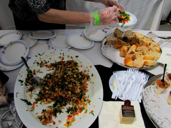Farro salad sample by Il Fornaio, Vintage Bouquet Extravaganza, Greystone Mansion, Beverly Hills