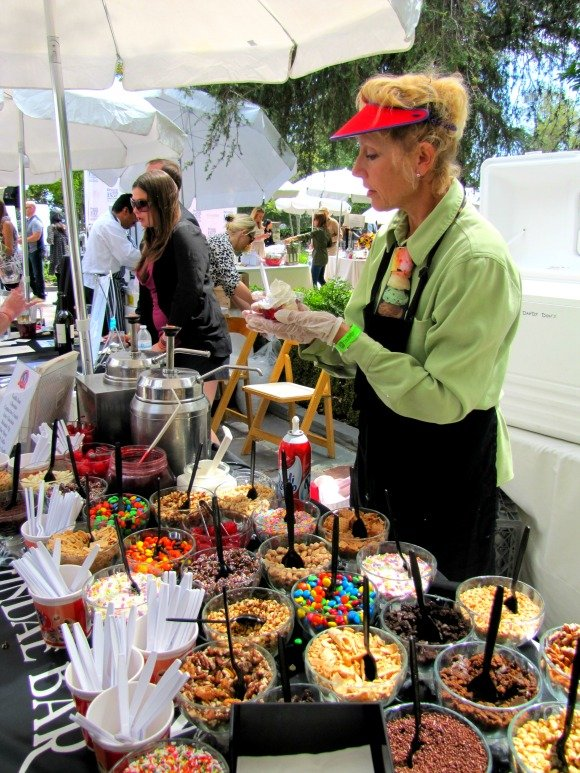 Ice cream sample from Dandy Don's, Vintage Bouquet Extravaganza, Greystone Mansion, Beverly Hills