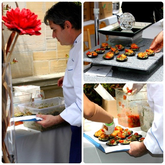 Cajun Shrimp sample by Celebrity Cruises, Vintage Bouquet Extravaganza, Greystone Mansion, Beverly Hills