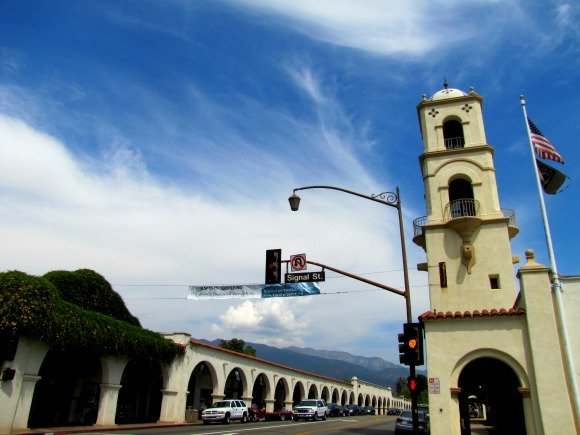 The Arcade and the bell tower, Ojai, California
