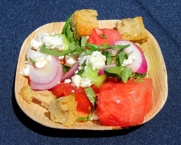 Watermelon and Tomato Salad, Celebrity Cruises Great Food and Wine Festival, Orange County Great  Park, Irvine California