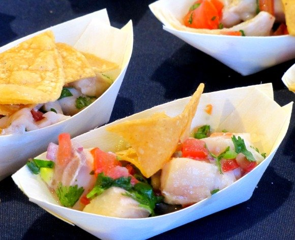 Fish Ceviche from Bluewater Grill, Celebrity Cruises Great Food and Wine Festival, Orange County Great  Park, Irvine California