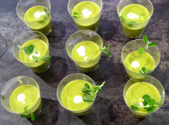 Pea Soup from James Republic, Celebrity Cruises Great Food and Wine Festival, Orange County Great  Park, Irvine California