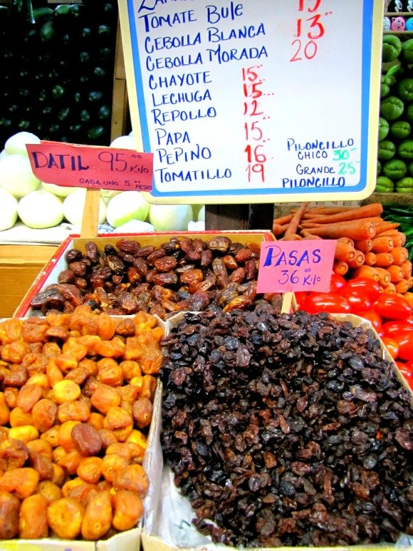 Dried fruit, Mercado Hidalgo, Tijuana, Mexico