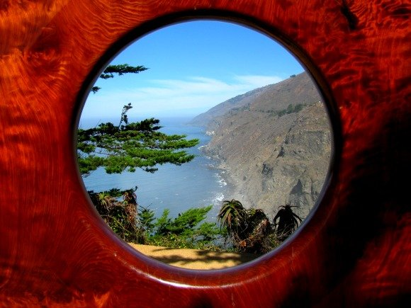 "Framed ""Million Dollar View"", Big Sur, California"