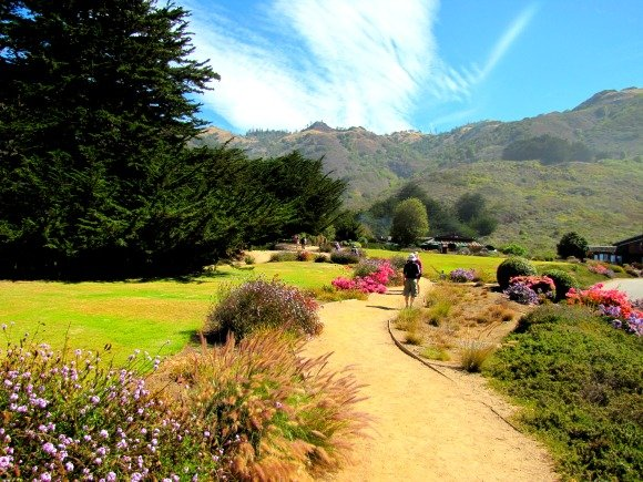 Path at Ragged Point Inn, Big Sur, California
