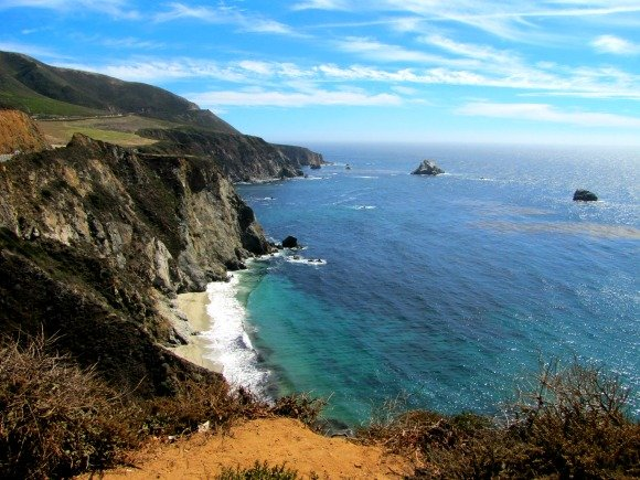 View form ther Bixby Bridge, Big Sur, California